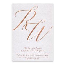 Wedding Invitations: Initial Love Foil Invitation