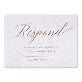 Wedding Response Cards: Initial Love Foil Response Card