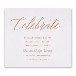Wedding Reception and Information Cards: Initial Love Foil Information Card