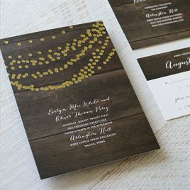 Rustic Beauty - Gold - Foil Invitation