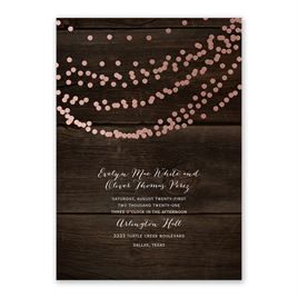 Rustic Beauty - Rose Gold - Foil Invitation