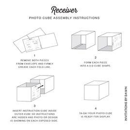 Modern Treasure - Save the Date Photo Cube