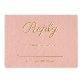 Wedding Response Cards: Simply Devoted Foil Response Card