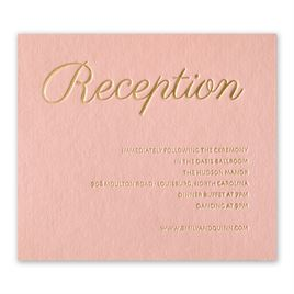 Wedding Reception and Information Cards: Simply Devoted Foil Information Card
