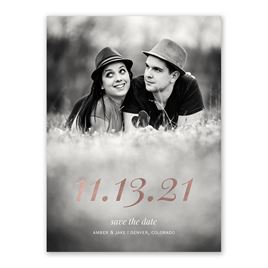 Special Date - Rose Gold - Foil Save the Date Card