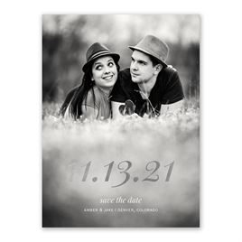 Special Date - Silver - Foil Save the Date Card