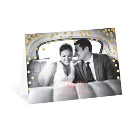 Modern Thank You Cards: Polka Dot Glow Foil Thank You Card