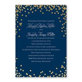 Polka Dot Glow - Gold - Foil Invitation