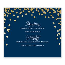 Polka Dot Glow - Gold - Foil Information Card
