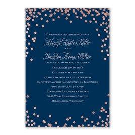 Polka Dot Glow - Rose Gold - Foil Invitation
