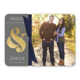 Wedding Invitations: Always Together Foil Invitation Flip Book
