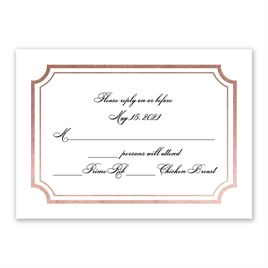 Tradition Reigns - Rose Gold - Foil Response Card