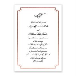 Tradition Reigns - Rose Gold - Foil Invitation