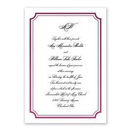 Tradition Reigns - Wine - Foil Invitation