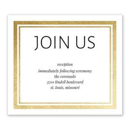 Modern Shine - Gold - Foil Information Card