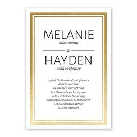 Modern Shine - Gold - Foil Invitation
