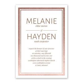 Wedding Invitations: Modern Shine Foil Invitation