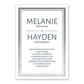 Modern Shine - Silver - Foil Invitation