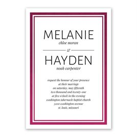 Modern Shine - Wine - Foil Invitation