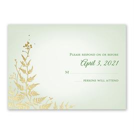 Woodland Sparkle - Gold - Foil Response Card