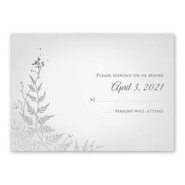 Woodland Sparkle - Silver - Foil Response Card