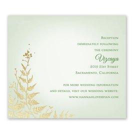 Woodland Sparkle - Gold - Foil Information Card