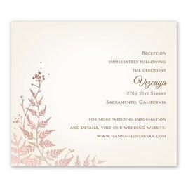 Woodland Sparkle - Rose Gold - Foil Information Card
