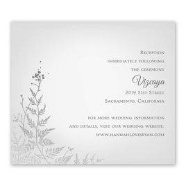Woodland Sparkle - Silver - Foil Information Card