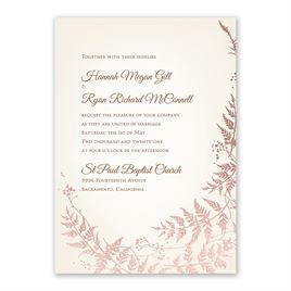 Woodland Sparkle - Rose Gold - Foil Invitation
