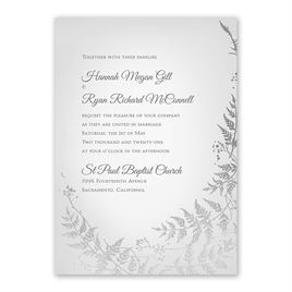 Woodland Sparkle - Silver - Foil Invitation