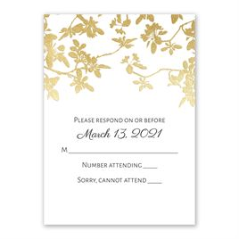 Woodland Branches - Gold - Foil Response Card
