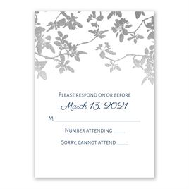 Wedding Response Cards: Woodland Branches Foil Response Card