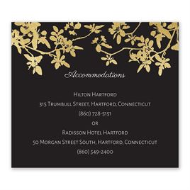 Woodland Branches - Gold - Foil Information Card