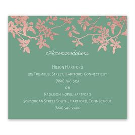Woodland Branches - Rose Gold - Foil Information Card