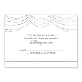Twinkling Lights - Silver - Foil Response Card