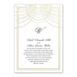 Twinkling Lights - Gold - Foil Invitation