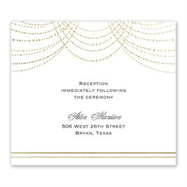 Twinkling Lights - Gold - Foil Information Card