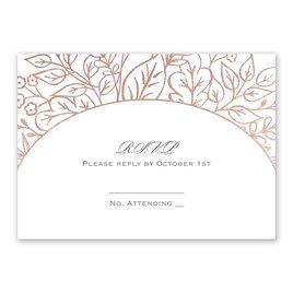 Foliage Frame - Rose Gold - Foil Response Card