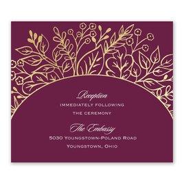 Foliage Frame - Gold - Foil Information Card