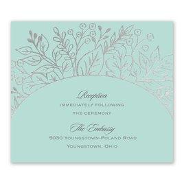 Foliage Frame - Silver - Foil Information Card