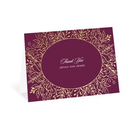 Foliage Frame - Gold - Foil Thank You Card