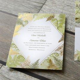 Botanical Beauty - Gold - Foil Invitation