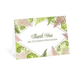 Botanical Beauty - Rose Gold - Foil Thank You Card