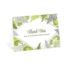 Botanical Beauty - Silver - Foil Thank You Card