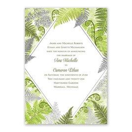 Botanical Beauty - Silver - Foil Invitation