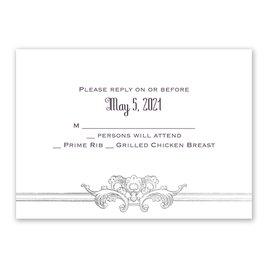 Yorkshire Romance - Silver - Foil Response Card