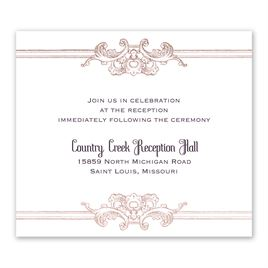 Yorkshire Romance - Rose Gold - Foil Information Card