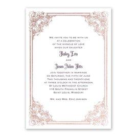 Wedding Invitations: Yorkshire Romance Foil Invitation
