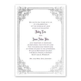 Yorkshire Romance - Silver - Foil Invitation