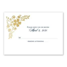 Wedding Response Cards: Brilliant Boho Foil Response Card